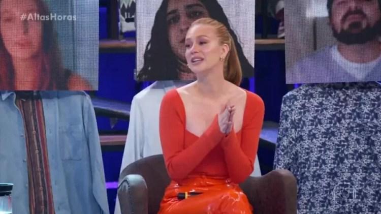Marina Ruy Barbosa participa de programa da Globo e se emociona (Foto: Reprodução)