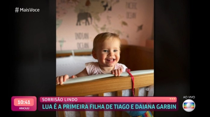 A filha do apresentador da Globo, Tiago Leifert, Lua (Foto: Reprodução)