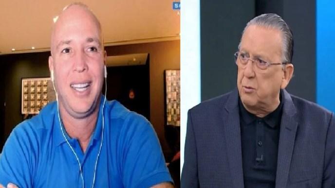 Caio Ribeiro e o comentarista Galvão Bueno (Foto: Reprodução)