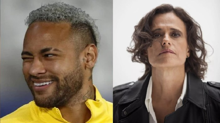 O jogador Neymar e a cantora Zélia Duncan (Foto: Reprodução)