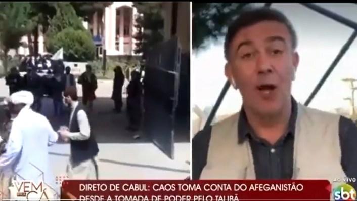 Jornalista da emissora de Silvio Santos, SBT (Foto: Reprodução)