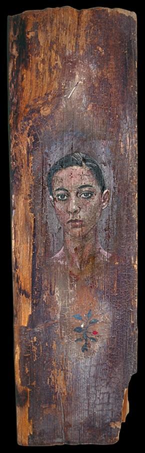 Έλενα, λάδι σε ξύλο, 125x30 cm, 1994