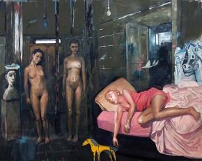 Η μικρή Ντάιν, λάδι σε καμβά, 150x200 cm, 2009 Young Dine, oil on canvas, 150x200 cm, 2009