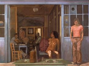 Καφενείο Βερμέερ ΙΙΙ, ακρυλικό σε καμβά, 122x202 cm, 1976