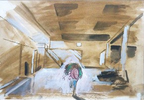 Μεταμόρφωση, ακουαρέλα, 20x30 cm, 2011 Transformation, aquarelle, 20x30 cm, 2011