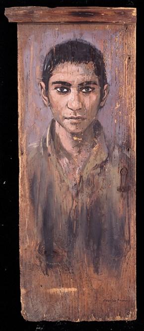 Μικρός Ινδός, λάδι σε ξύλο, 80x40 cm, 1992