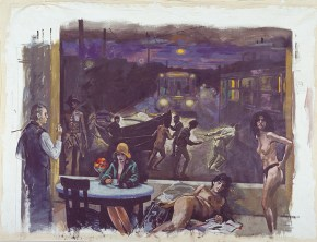 Πέρασμα, ακρυλικό σε καμβά, 250x300 cm, 2000 Passage, acrylic on canvas, 250x300 cm, 2000