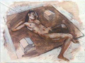 Πατρίς Ι, ακουαρέλα, 20x30 cm, 2011, Patris I, aquarelle, 20x30 cm, 2011
