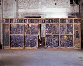 Τέμπλο, κατασκευή, ζωγραφική, μουσική, θέατρο, 3x8 m, 1994