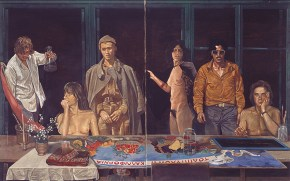 Τέσσερις Εποχές (για τον Τσαρούχη), λάδι σε καμβά, 127x205 cm, 1978