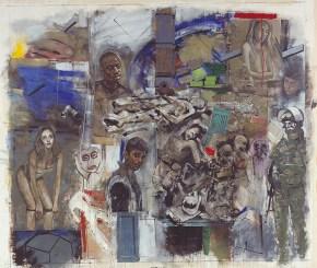 Τοίχος, ακρυλικό σε καμβά, 260x330 cm, 2001 Wall, arylic on canvas, 260x330 cm, 2001