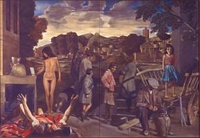Τρία οράματα, λάδι σε καμβά, 125x180 cm, 1978