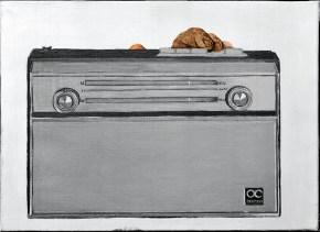 Υποκλοπή, λάδι σε καμβά, 40x60 cm, 1968
