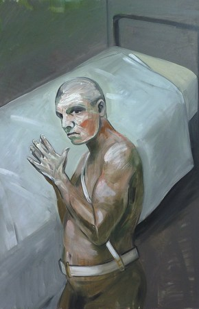 Φυλακισμένος φύλακας, λάδι σε καμβά, 120x100 cm, 2010 Incarcerated guard, oil on canvas, 120x100 cm, 2010