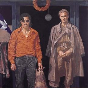 Χασάπης, λάδι σε καμβά, 120x120 cm 1977