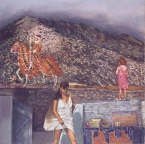 Χρύσα Μπελλίνι, ακρυλικό σε καμβά, 130x130 cm, 1977