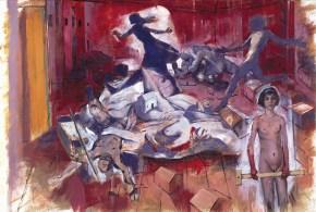 Όνειρο της Υ. μεσημέρι στην Αθήνα, ακρυλικό και λάδι σε καμβά, 200x300 cm, 1997