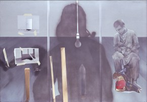 401 AGHA, acrylic on camvas, 104x160 cm, 1975