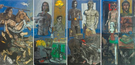 Alexander in Veria, oil on canvas, 200x400 cm, 2012