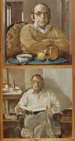 Andreas, oil on wood,120x60 cm, 1978