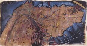Attica, acrylic, pastel, oil on canvas, 200x300 cm, 1997