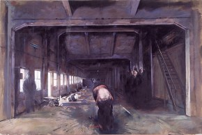 Bowing, oil on canvas, 200x300 cm, 1996