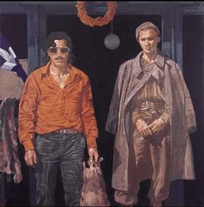 Butcher, oil on canvas, 120x120 cm 1977