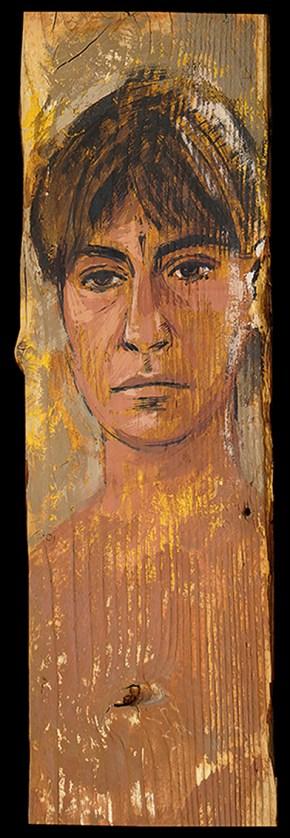 Chrysa, oil on wood, 50x20 cm, 2000