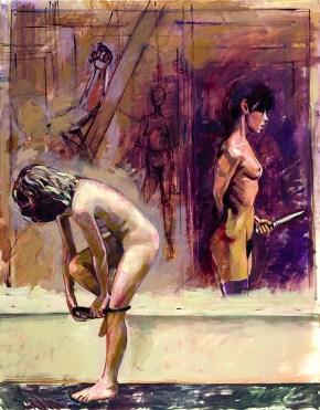 Despina Giacometti, oil on canvas, 120x100 cm, 2002