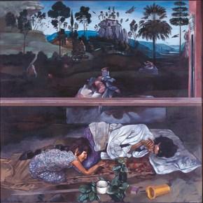 Dream I, oil on wood, 130x120 cm, 1977