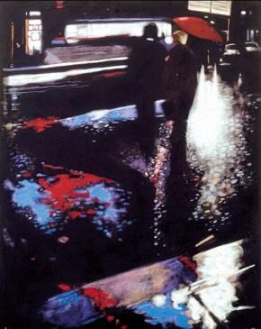 Evening encounter III, oil on canvas, 120x80 cm, 1987
