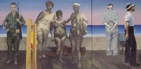 Family, acrylic on canvas, 104x234 cm, 1974