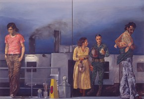 Journey to Syra, oil on canvas, 125x180 cm, 1978