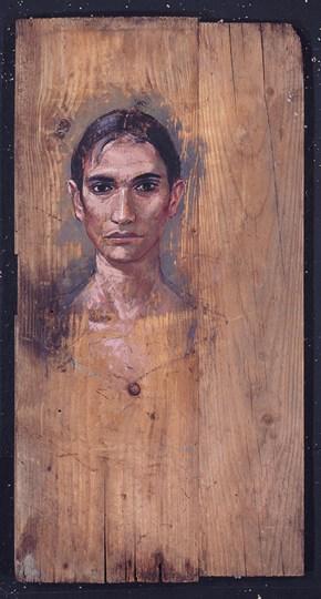 Katerina, oil on wood, 110x50 cm, 1994