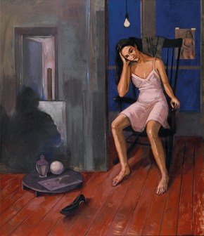 Katia IX, oil on wood, 110x70 cm, 1989