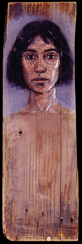 Katia, oil on wood, 120x30 cm, 1990