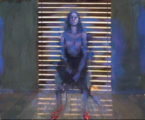 Katia with sword, oil on canvas, 140x170 cm, 1988