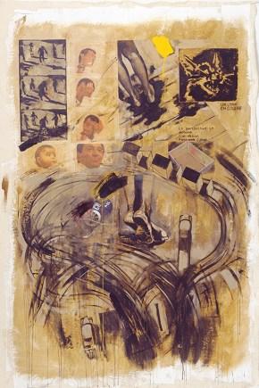 Labyrinth I, acrylici on canvas, 260x180 cm, 2001