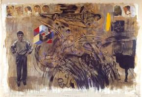 Labyrinth Ii, acrylic on canvas, 260x330 cm, 2001