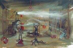 Man is man I, tempera on paper, 30x40 cm, Art Theatre Karolos Koun, 1989