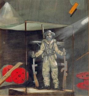 Man is man III, tempera on paper, 30x40 cm, Art Theatre Karolos Koun, 1989