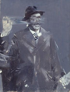 Politician who hails, oil on canvas, 150x100 cm 1968