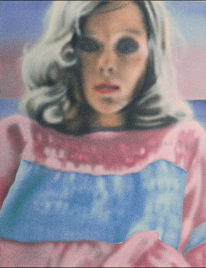 Pregnancy,,acrylic on canvas, 104x72 cm, 1974