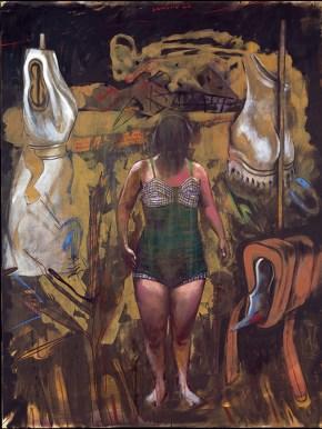 Room 23, acrylic and oil on canvas, 200x150 cm, 1997
