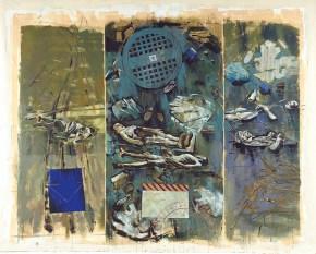 Shipwreck, acrylic on canvas, 260x330 cm, 2001