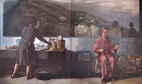 The glazier, oil on canvas, 130x200 cm, 1981