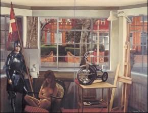The guard, acrylic on canvas, 160x200 cm, 1976