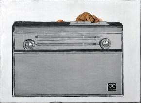 Theft, oil on canvas, 40x60 cm, 1968
