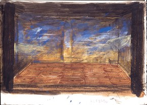 Vacationers, oil on canvas. Art Theatre Karolos Koun