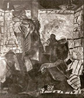 Velouhiotis, oil on canvas, 70x50 cm, 1964